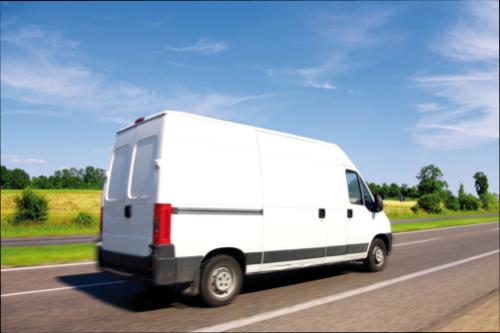 white delivery mini truck
